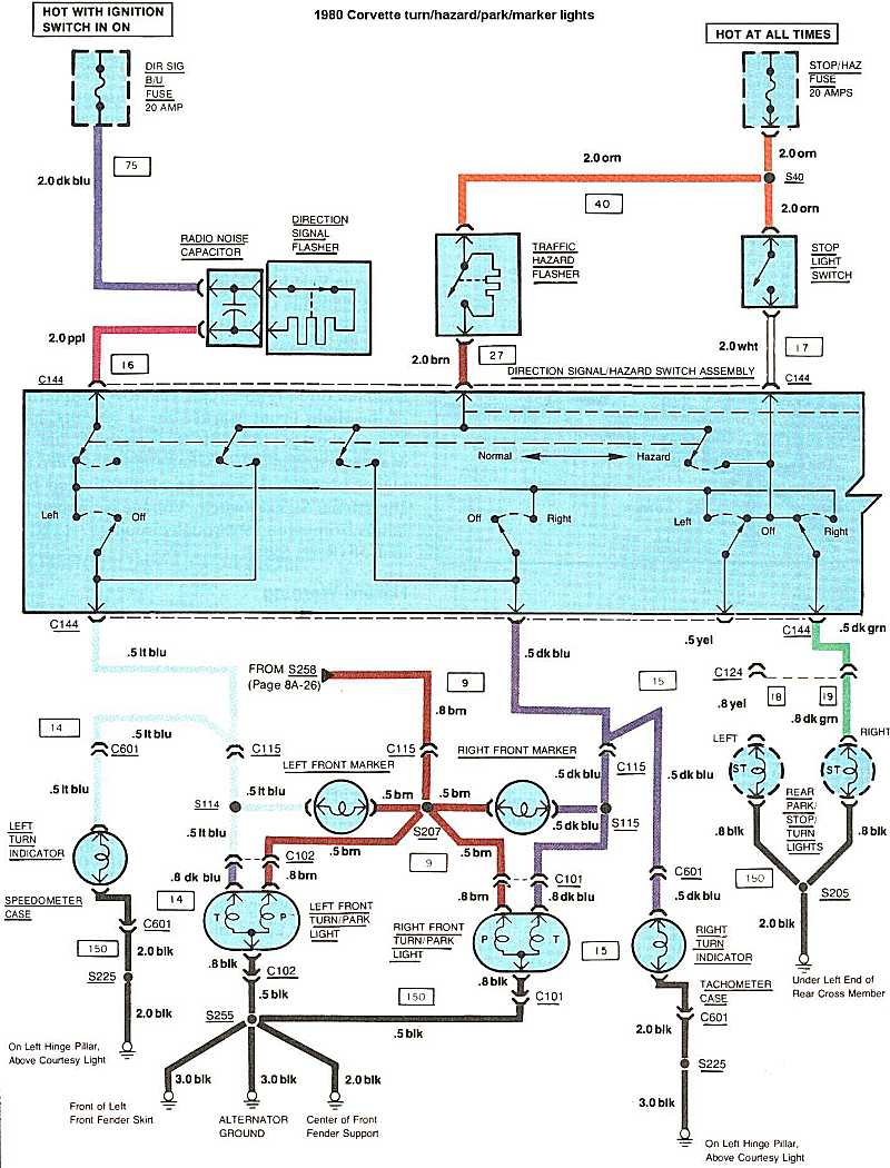1975 Corvette Turn Signal Wiring - Wiring Diagram & Electricity ...