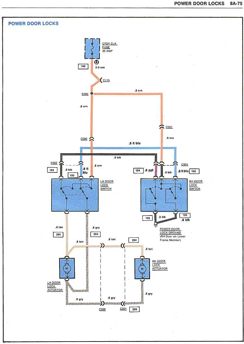 page 75 Power door locks power lock wiring corvetteforum chevrolet corvette forum 1980 corvette wiring schematics at panicattacktreatment.co