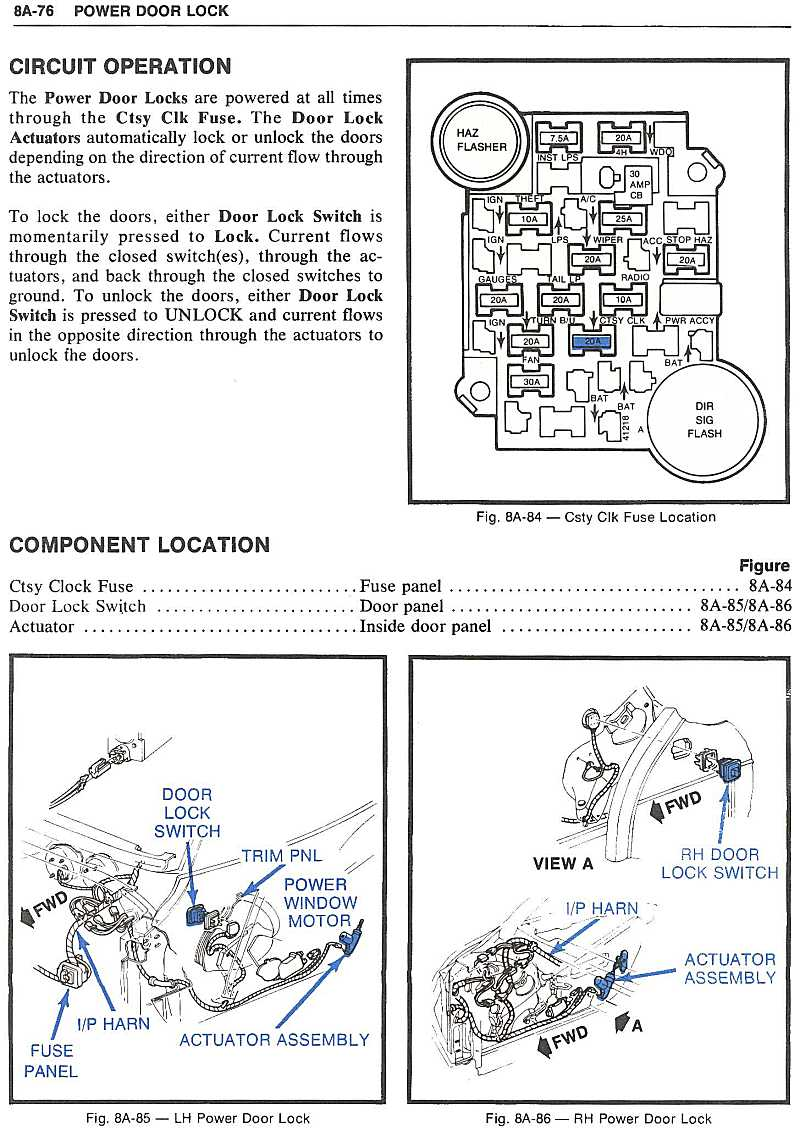 Power Door Lock Wiring Diagram 79 Corvette 42 Switch Page 76 Locks Corvetteforum Chevrolet Forum