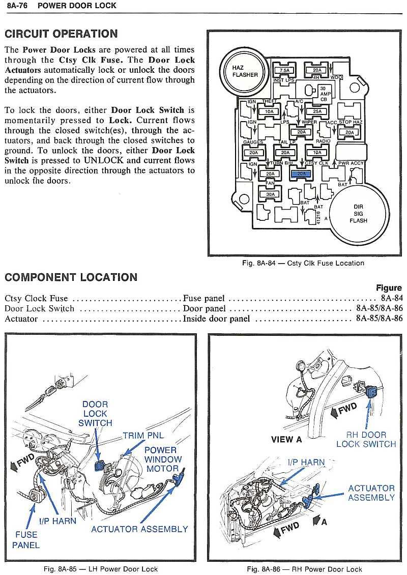 Wiring For 79 Power Door Locks - Forums